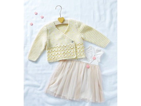 Girls Cardigan Crochet Kit and Pattern in Sirdar Yarn (5315)