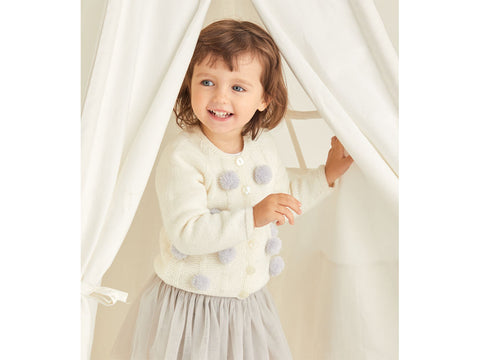 Girls Cardigan Knitting Kit and Pattern in Sirdar Yarn (5369)