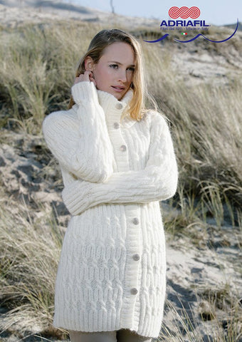 Jennifer Cardigan In Adriafil Soffio Plus - Digital Version-Deramores