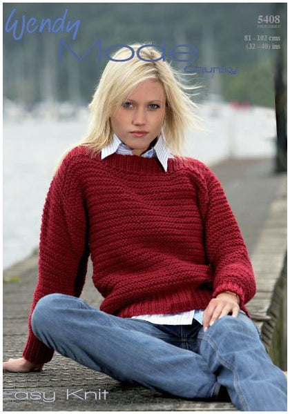 Sweater in Wendy Mode Chunky (5408) Digital Version   Deramores