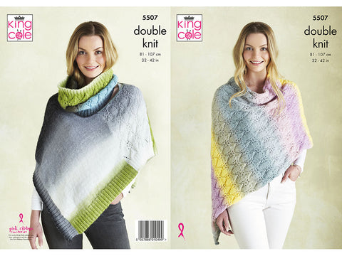 Ponchos and Snood in King Cole DK (5507K)