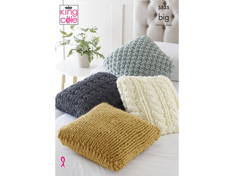 Cushions in King Cole Big Value BIG (5535K)