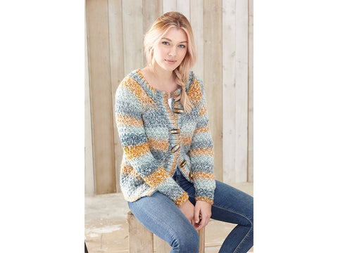 Sweaters & Cardigan Knitting Kit and Pattern in King Cole Orbit Super Chunky Yarn (5576K)