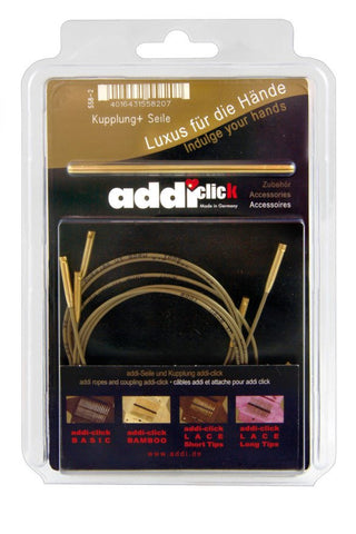 Addi-Click Accessories - 3 Cords and 1 Connector-Deramores