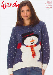 Snowman Sweater in Wendy Aran with Wool (5593)