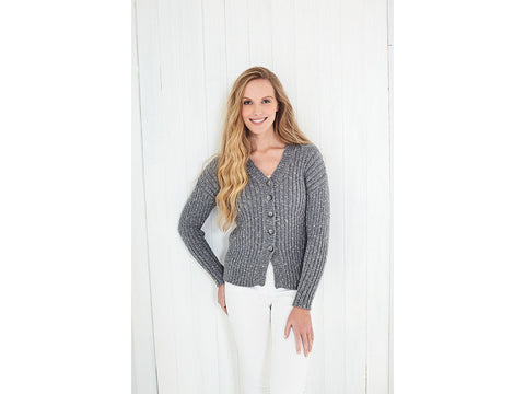 Cardigan and Top Knitting Kit and Pattern in King Cole Yarn (5625K)
