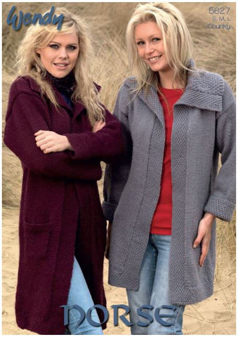 Coat and Jacket in Wendy Norse Chunky (5627) Digital Version-Deramores