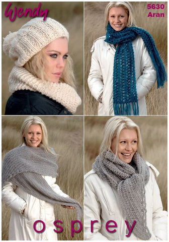 Accessories in Wendy Osprey Aran (5630) Digital Version-Deramores
