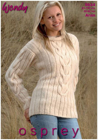 Tunics in Wendy Osprey Aran (5634) Digital Version