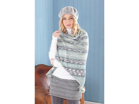 Ladies Ponchos, Snood & Shawl Knitting Kit and Pattern in King Cole Fjord DK Yarn (5652)