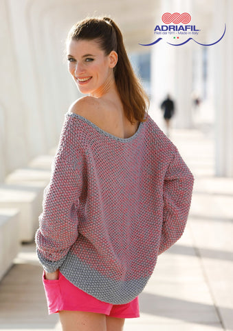 Ruby Pullover in Adriafil Duo Comfort - Digital Version