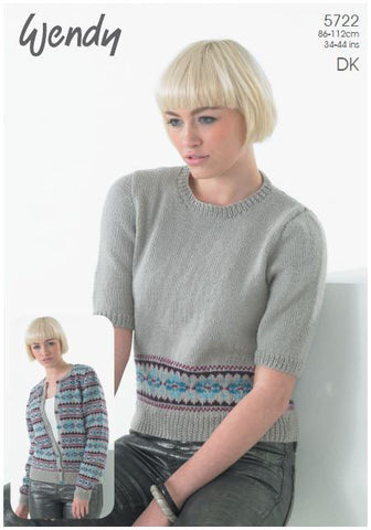 Fairisle Sweater and Cardigan (5722) Digital Version-Deramores