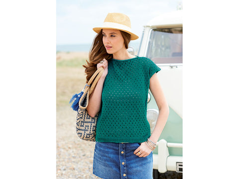 Lace Top & Textured Top in Rico Design Essentials Cotton DK