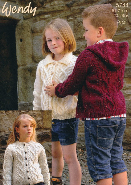 Child's Jacket in Wendy Aran (5744)