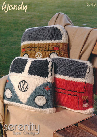 Camper Van Cushions in Wendy Serenity Super Chunky (5748)-Deramores