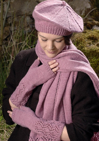 Scarf, Beret and Mitts in Wendy Merino DK  (5814) - Digital Version