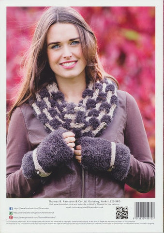 Cowl, Bag and Wrist Warmers in Wendy Eider Chunky and Mode Chunky (5972)-Deramores