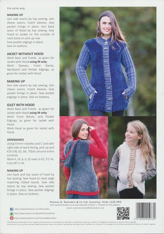 Jacket and Gilet with Hood and Jacket without Hood in Wendy Eider Chunky, Mode Chunky and Merino Chunky (5973)-Deramores