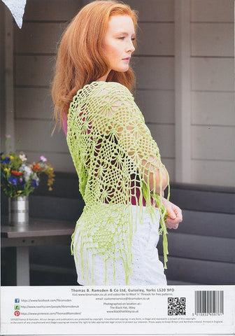 Crochet Sleeveless Top and Shawl in Wendy Supreme Luxury Cotton 4 Ply (5976)-Deramores