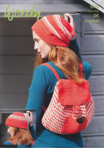 Crochet Hat and Rucksack in Wendy Supreme Luxury Cotton DK (5978)-Deramores