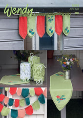 Window Decoration, Table Runner, Jar Covers and Bunting in Wendy Supreme Luxury Cotton DK (5983)