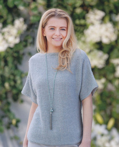 Scoop Hem Sweater and Tunic in Wendy Fleur DK (5993)