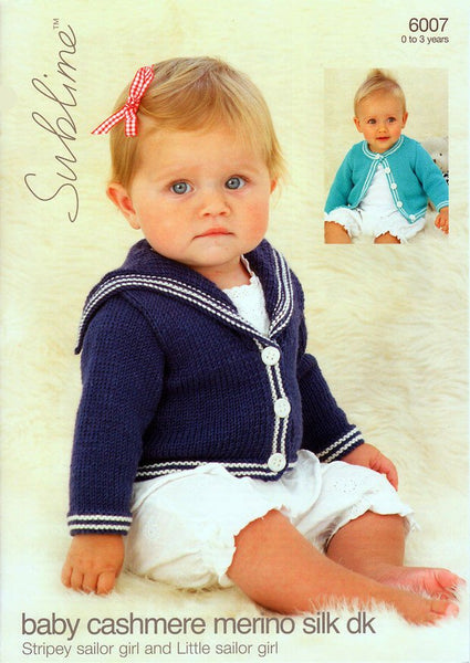 Sailor Cardigans in Sublime Baby Cashmere Merino Silk DK (6007)