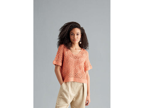 Womens V-Neck Top in Sublime Isabella DK