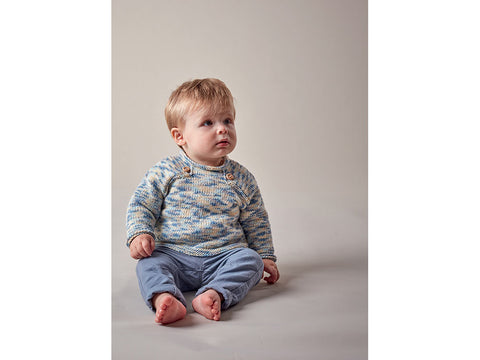 Baby Boy's Sweaters in Sublime Baby Cashmere Merino Silk DK Prints (6143)