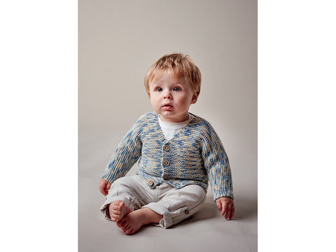 6bd08aad7 SAVE 10%Baby Boy s V Neck Cardigan in Sublime Baby Cashmere Merino Silk DK  Prints (6144)