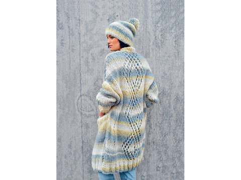 Poncho, Coat and Hat in Rico Design Creative Melange Big Super Chunky (640)