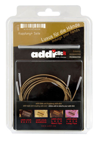 Addi-Click Basic Accessories - 3 Cords + 1 Connector-Deramores