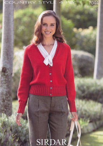 Womens Cardigan in Sirdar Country Style 4 Ply (7044)