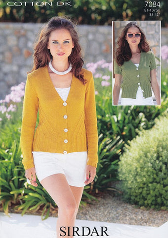 Womans Cardigan in Sirdar Cotton DK (7084)