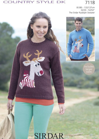 The Sirdar Rudolph Sweater in Sirdar Country Style DK (7118)