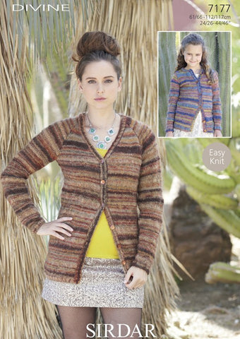Womens Jacket in Sirdar Divine (7177)