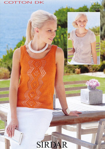 Top and Vest in Sirdar Cotton DK (7212)