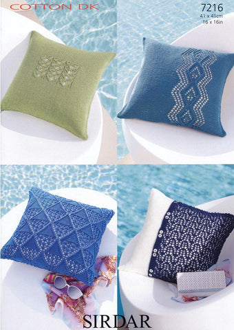Cushion Covers in Sirdar Cotton DK (7216)-Deramores