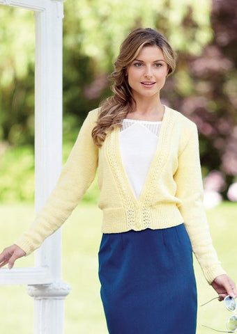 Womens Deep V Neck Cardigan in Sirdar Country Style DK (7219) - Digital Version
