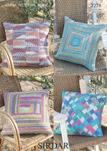 Cushion Covers in Sirdar Crofter DK (7228)-Deramores