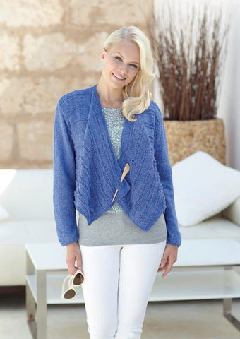 Womens Waterfall Jacket in Sirdar Ella DK (7235) - Digital Version