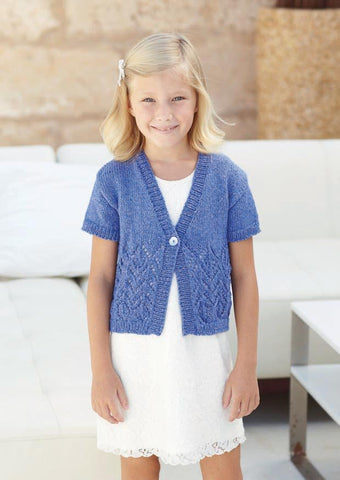 Womens and Girls Cardigan in Sirdar Ella DK (7236) - Digital Version