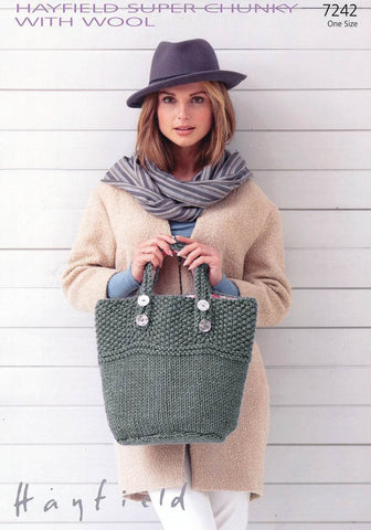 Bag in Hayfield Super Chunky with Wool (7242)-Deramores