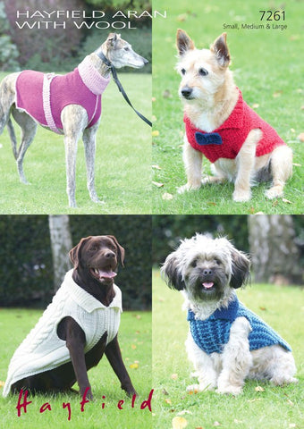 Dog Coats in Hayfield Aran with Wool (7261)-Deramores