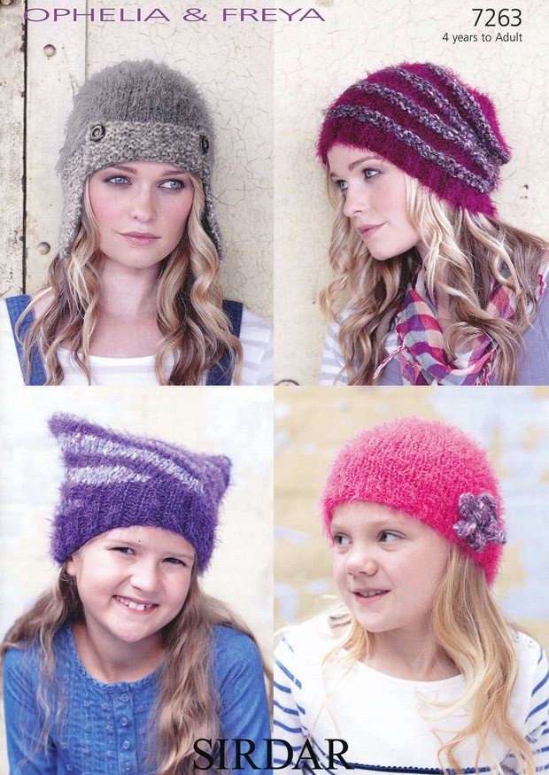 Hats in Sirdar Ophelia and Freya (7263)-Deramores