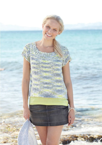 Girls/Women's Round Neck Tops in Sirdar Beachcomber DK (7279) - Digital Version-Deramores