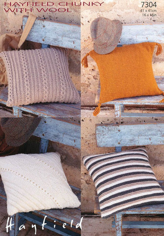 Cushion Covers in Hayfield Chunky with Wool (7304)-Deramores