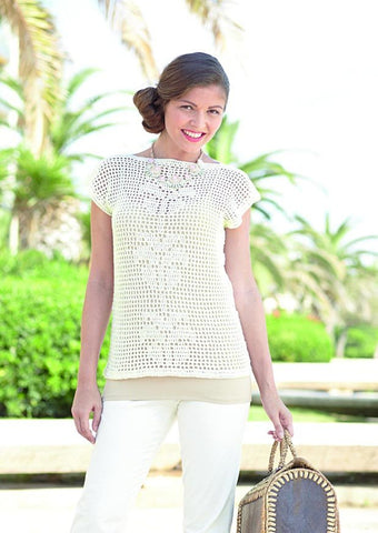 Top in Sirdar Cotton 4 ply (7305) - Digital Version