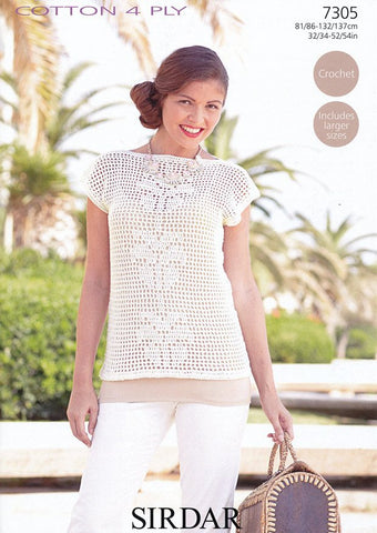 Top in Sirdar Cotton 4 ply (7305)