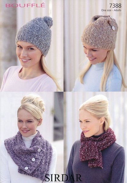 Scarves and Hats in Sirdar Bouffle (7388)